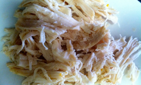 Shredded Chicken for Tortllla Soup
