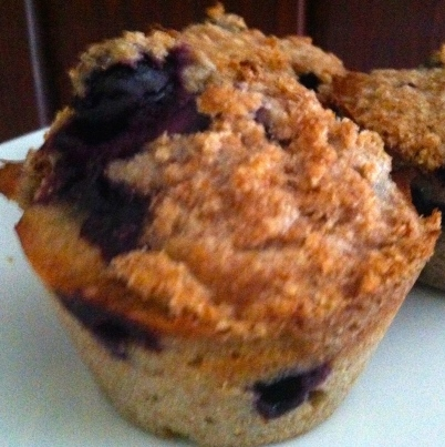 Blueberry Muffins with Wheat Flour and Vanilla Almond Milk
