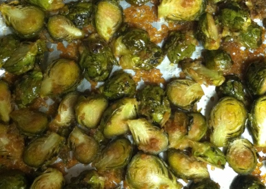 Fresh from the Oven! Sweet Garlic Brussel Sprouts
