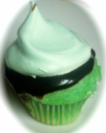 Must Try!  Simple, refreshing and delicious Creme De Menthe Cupcakes