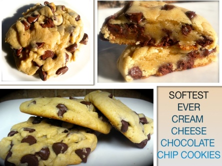 SOFTEST EVER CREAM CHEESE CHOCOLATE CHIP COOKIES