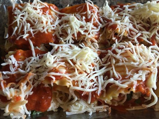 Before the Oven, Caprese Lasagna Roll Ups