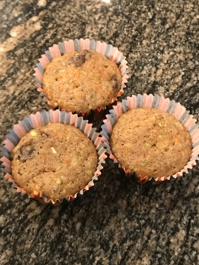Zucchini Carrot Apple Muffins GLUTEN FREE